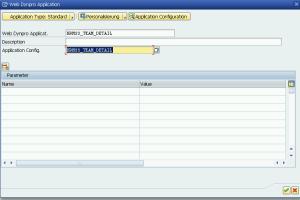 Рисунок 4. Наименование Web Dynpro приложения и его конфигурации