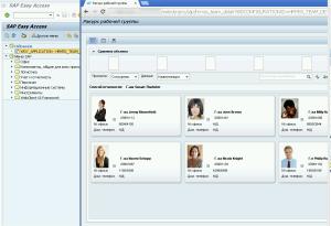 Рисунок 6. Результат запуска Web Dynpro приложения из back-end системы
