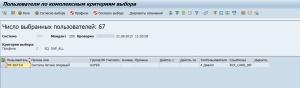 Рисунок 3. Результаты поиска пользователей с профилем SAP_ALL