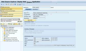 Рисунок 22. Запуск Web Dynpro приложения HRTMC_SEARCH из back-end системы
