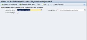 Рисунок 10. Редактор конфигураций компонентов Web Dynpro приложений