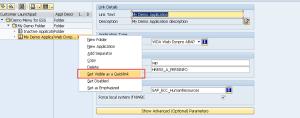 Рисунок 6. Активация опции Set as a QuickLink