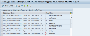 Рисунок 4. Настройка Assign Attachment Types to a Search Profile Type