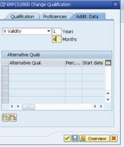 Рисунок 3. Ограничение периода действия квалификации, транзакция OOQA