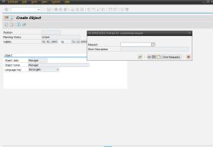 Рисунок 2. Формирование транспортного запроса при сохранении мастер-данных в транзакции PP01