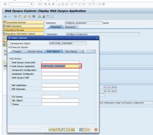 Рисунок 10. Запуск WebDynpro приложения CONFIGURE_COMPONENT