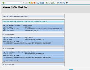 Рисунок 3. Лог импорта профиля системы
