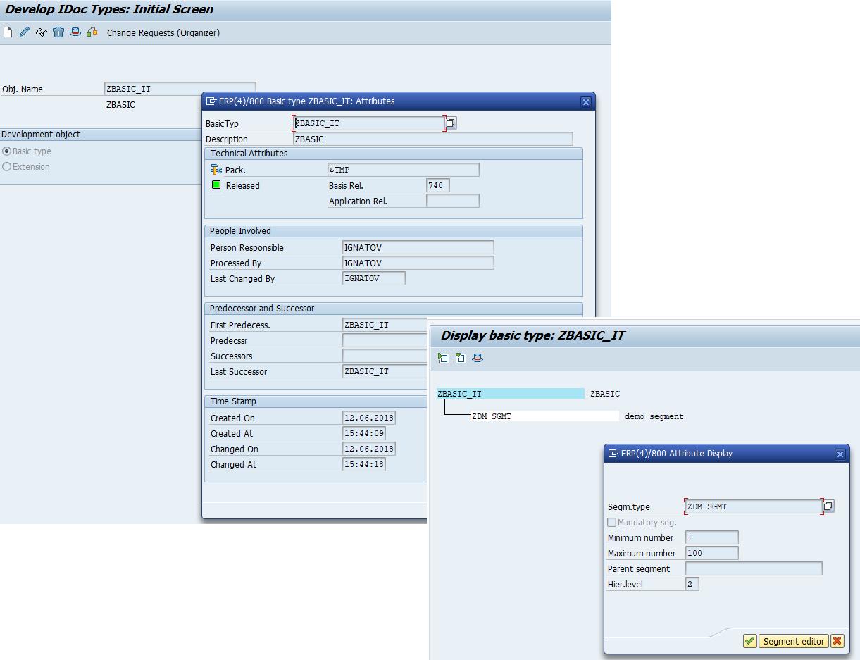 Заполнение нового типа IDoc посредством запуска ABAP программы