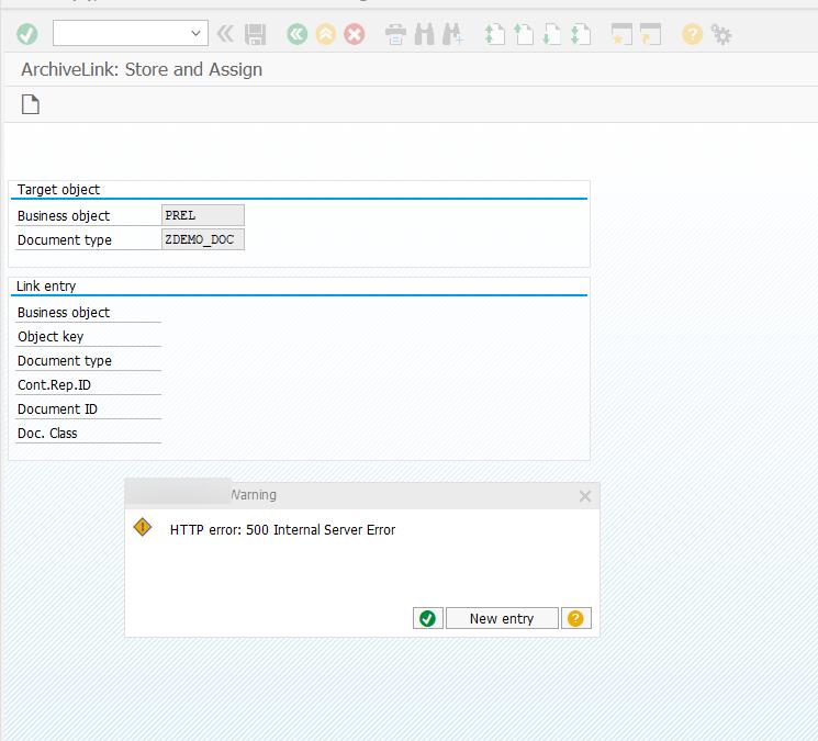 Загрузка файлов смешанного типа в SAP ArchiveLink